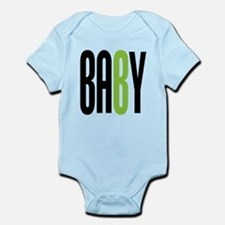 Twin Baby B Green Infant Bodysuit