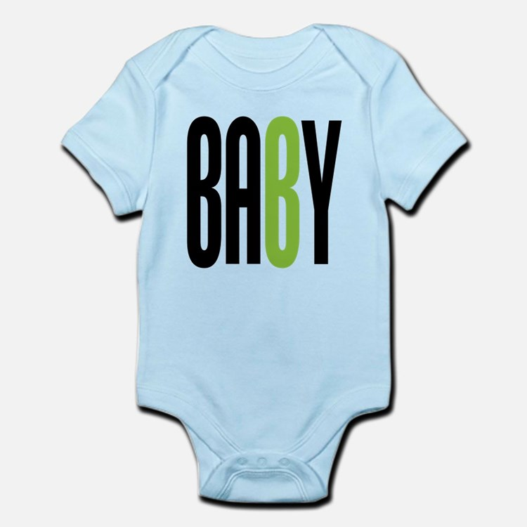 Twin Baby B Green Infant Bodysuit
