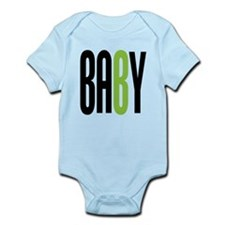 Twin Baby B Green Onesie