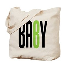 Twin Baby B Green Tote Bag