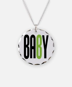 Twin Baby B Green Necklace