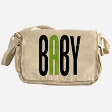 Twin Baby A Green Messenger Bag