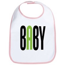 Twin Baby A Green Bib