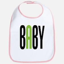 Twin Baby A Green Bib
