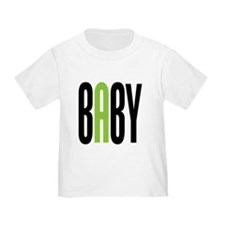 Twin Baby A Green T