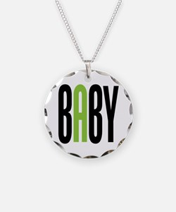 Twin Baby A Green Necklace