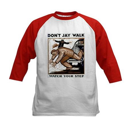 Don't Jaywalk ! Kids Baseball Jersey