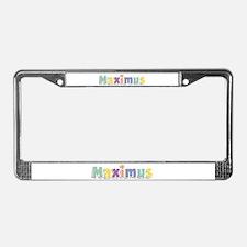 Maximus Spring14 License Plate Frame