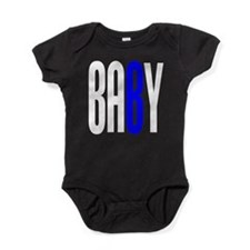 Twin Baby B Blue Baby Bodysuit