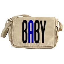 Twin Baby A Blue Messenger Bag