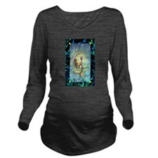 Mermaid Moon Fantasy Long Sleeve Maternity T-Shirt