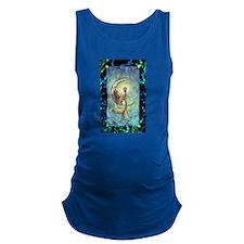 Mermaid Moon Fantasy Art Maternity Tank Top
