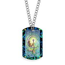 Mermaid Moon Fantasy Art Dog Tags