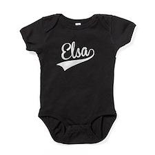 Elsa, Retro, Baby Bodysuit