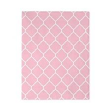 pink and white quatrefoil Twin Duvet