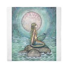 The Pastel Sea Mermaid Fantasy Art Queen Duvet