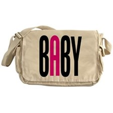 Twin Baby A Pink Messenger Bag
