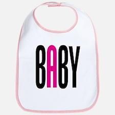 Twin Baby A Pink Bib