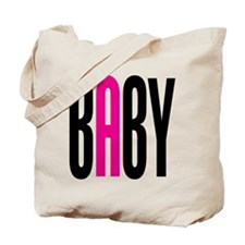 Twin Baby A Pink Tote Bag
