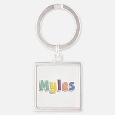 Myles Spring14 Square Keychain