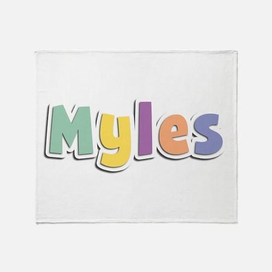 Myles Spring14 Throw Blanket