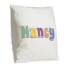 Nancy Spring14 Burlap Throw Pillow