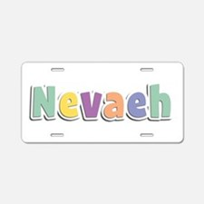 Nevaeh Spring14 Aluminum License Plate
