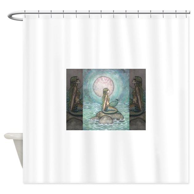 The pastel sea fantasy art shower curtain by robmolily for Fantasy shower curtains