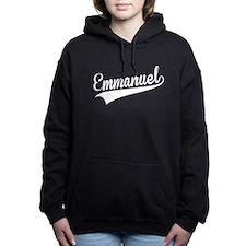 Emmanuel, Retro, Women's Hooded Sweatshirt