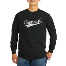 Emmanuel, Retro, Long Sleeve T-Shirt