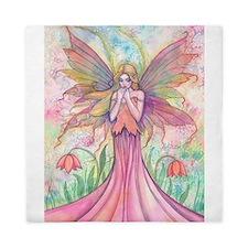 Wildflower Fairy Watercolor Fantasy Ar Queen Duvet