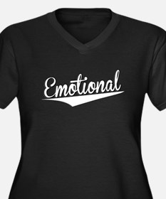 Emotional, Retro, Plus Size T-Shirt