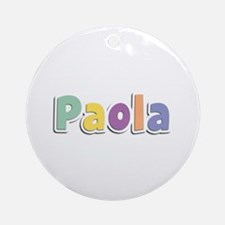 Paola Spring14 Round Ornament