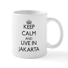 Keep Calm and live in Jakarta Mugs