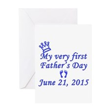 First Father's Day 2015 Greeting Card