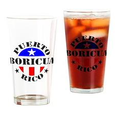 Puerto Rico - Boricua Drinking Glass