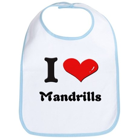 I love mandrills Bib