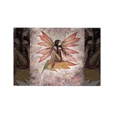 Autumn Drifting Fairy Fantasy Art Magnets