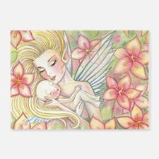 Mother and Baby Fairy Fantasy Art b 5'x7'Area Rug