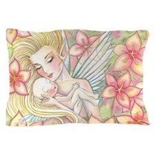 Mother and Baby Fairy Fantasy Art by M Pillow Case