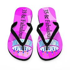 Pink Star 35th Flip Flops