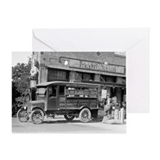 Hardware Store Delivery Truck, 1924 Greeting Card