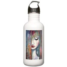 Asleep Abstract Moon Star Girl Water Bottle