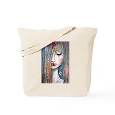 Asleep Abstract Moon Star Girl Tote Bag