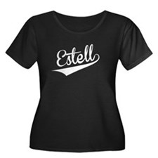 Estell, Retro, Plus Size T-Shirt