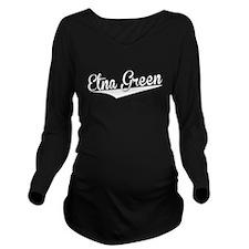 Etna Green, Retro, Long Sleeve Maternity T-Shirt
