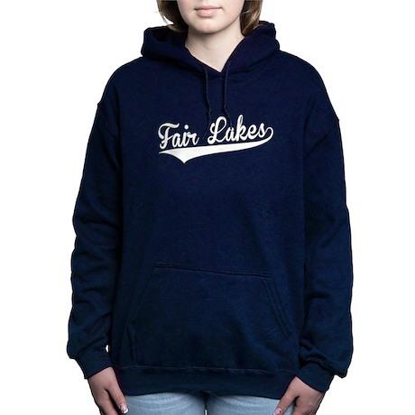 Fair Lakes, Retro, Women's Hooded Sweatshirt