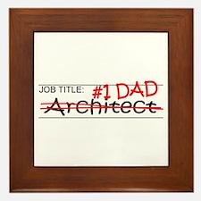 Job Dad Architect Framed Tile