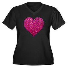 Polkadots Je Women's Plus Size V-Neck Dark T-Shirt