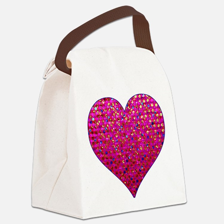 Polkadots Jewels 2 Canvas Lunch Bag